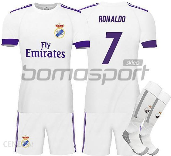 78084bbc5 Realjr Komplet Dziecięcy Real Madryt Home 2016/17 Ronaldo 7 + Getry  (Rm020916Kmg)