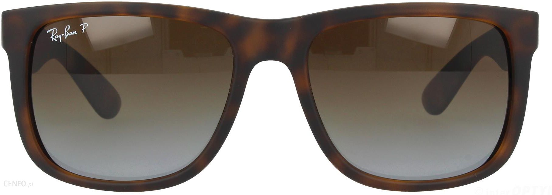 33acd39ca43d2 Ray-Ban JUSTIN RB4165 865 T5 54 havana rubber polar brown gradient ...