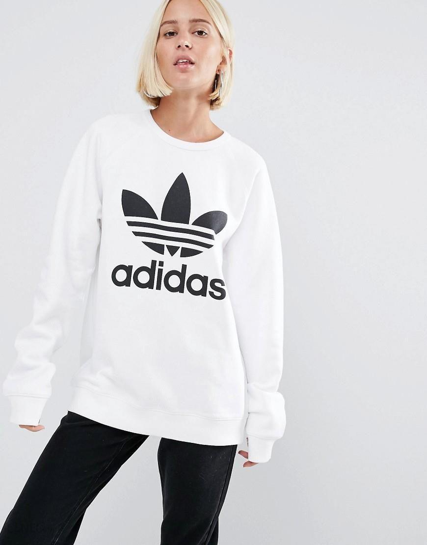 Adidas Originals Oversized Sweatshirt With Trefoil Logo White Ceneo.pl