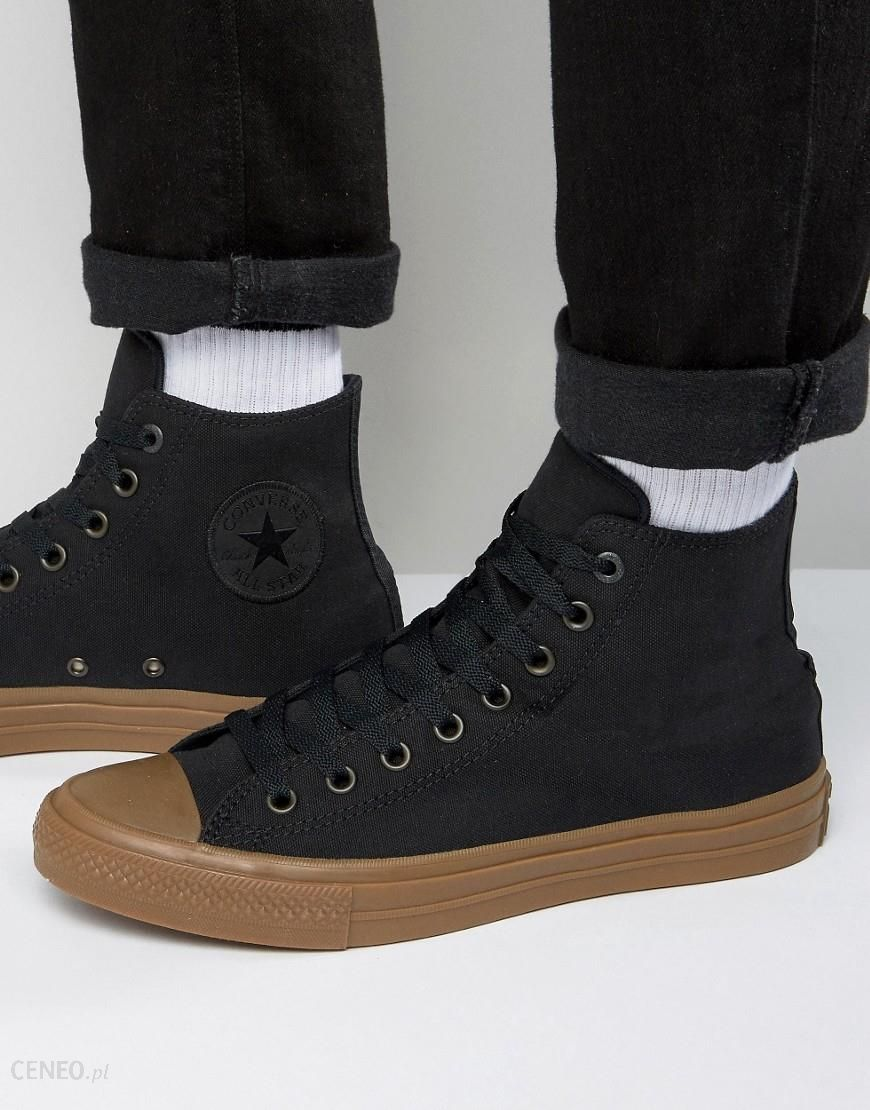 Converse Chuck Taylor All Star II Hi Plimsolls With Gum Sole In Black 155496C Black