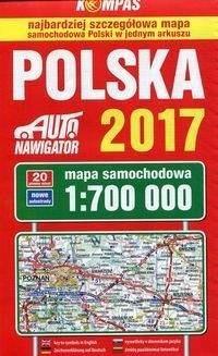 Polska 2017 Mapa Samochodowa 1 700 000 Ceny I Opinie Ceneo Pl
