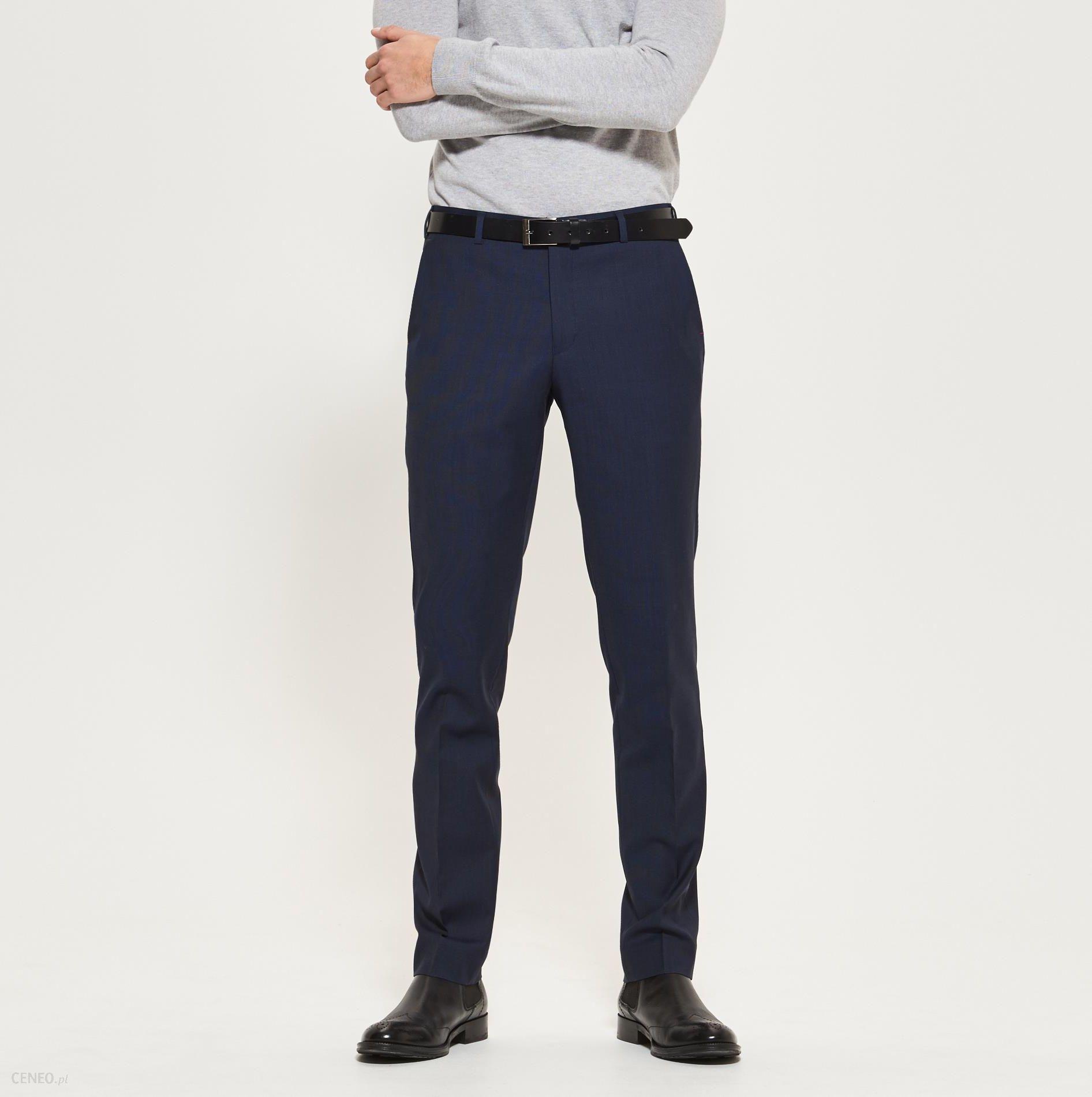 Reserved Garniturowe spodnie Granatowy męska