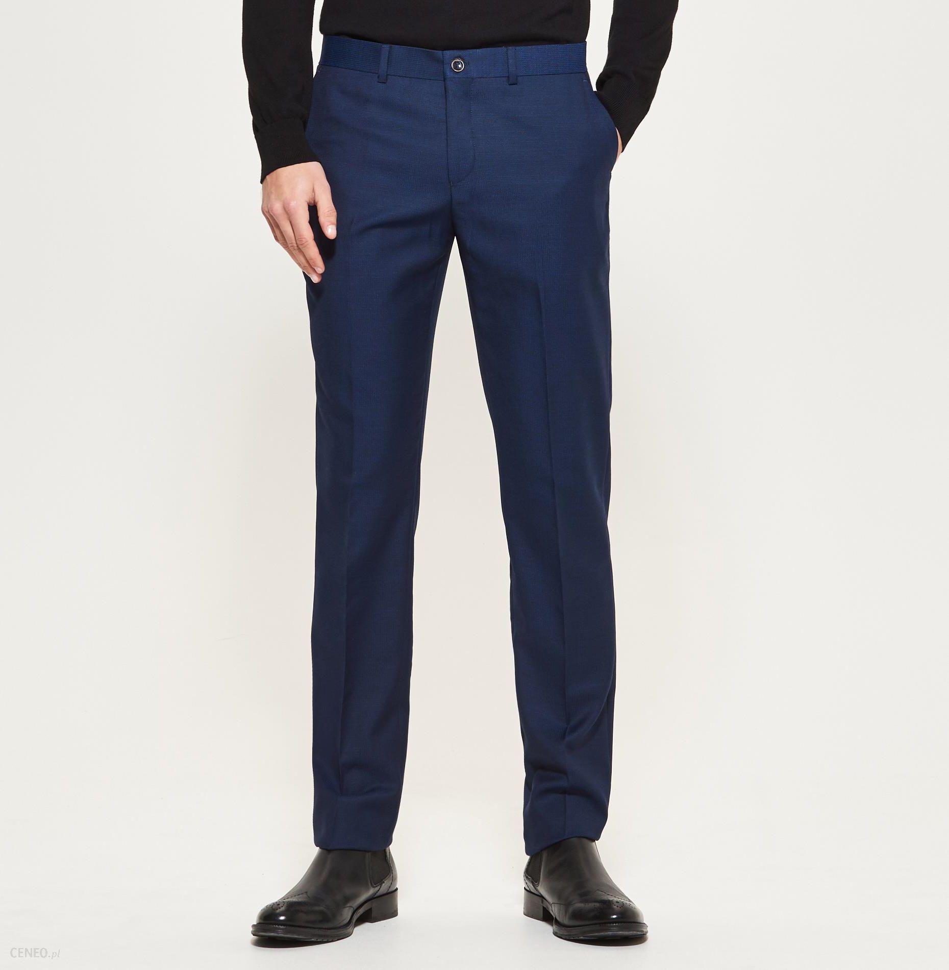 Reserved Spodnie garniturowe Granatowy męska