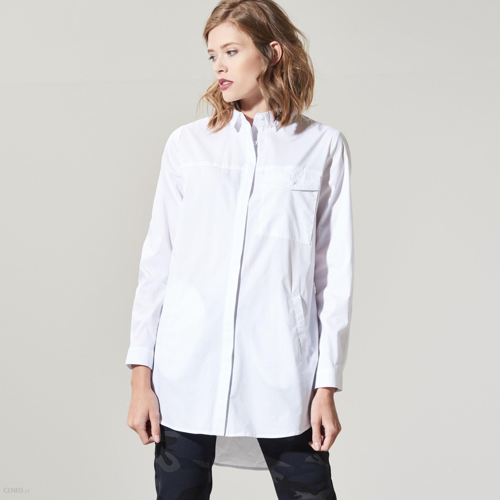 Długa koszula oversize Biały Białe koszule damskie