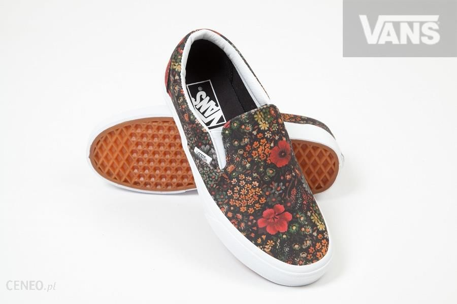 U Buty VANS Classic Slip On (Floral Leather Ceny i opinie Ceneo.pl