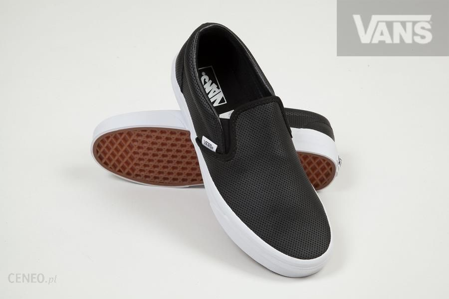 U Buty męskie VANS CLASSIC SLIP ON (Perf Leather) black Ceny i opinie Ceneo.pl