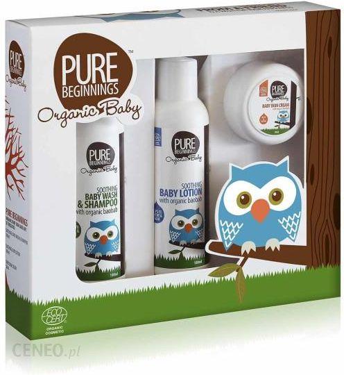 Pure Beginnings Organic Baby Zestaw Podstawa Pielęgnacji Malucha 3 Szt