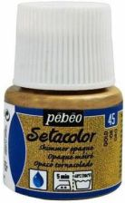 pebeo Farba do tkanin Setacolor Opaque Połysk 45ml Metal Gold