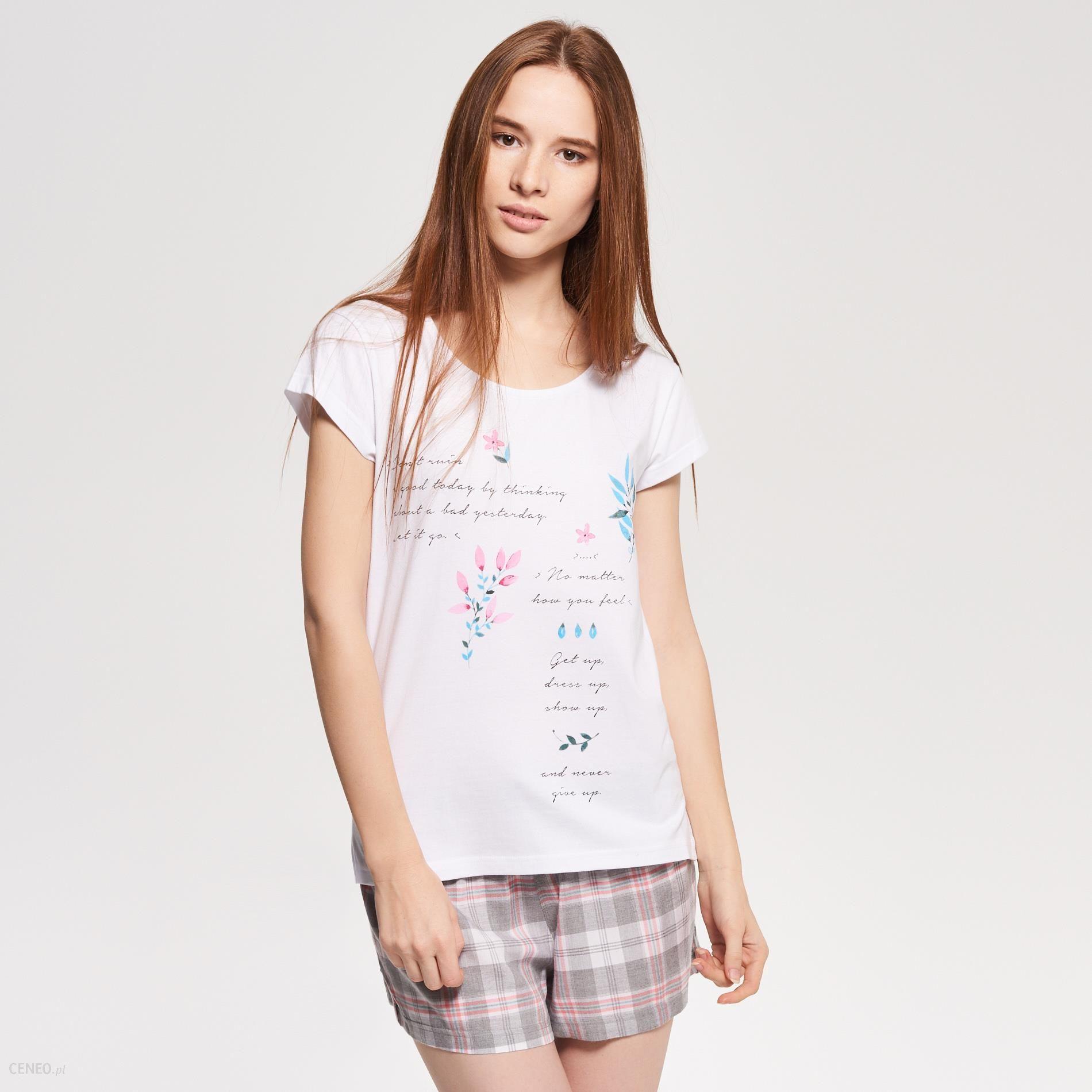 ecd443c875cc55 Reserved - Dwuczęściowa piżama - Szary - damska - Ceny i opinie ...