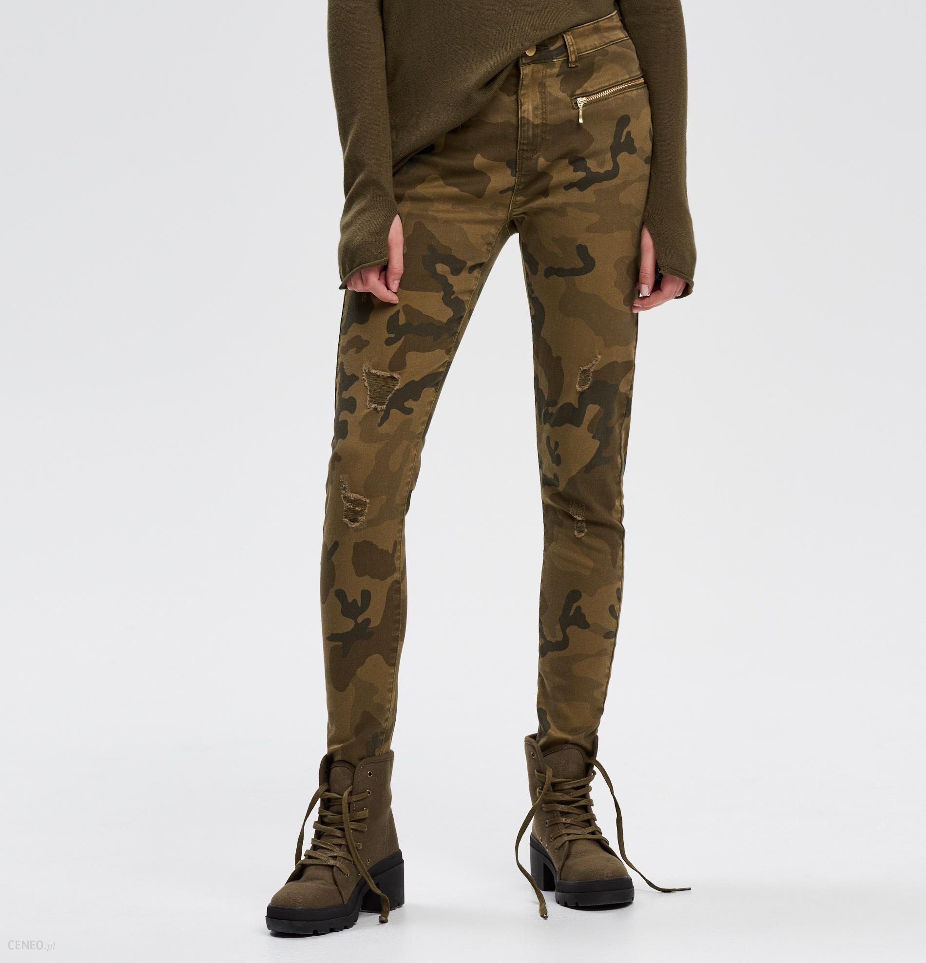 90f64205a24fc7 Cropp - Spodnie moro - Zielony - damska - Ceny i opinie - Ceneo.pl