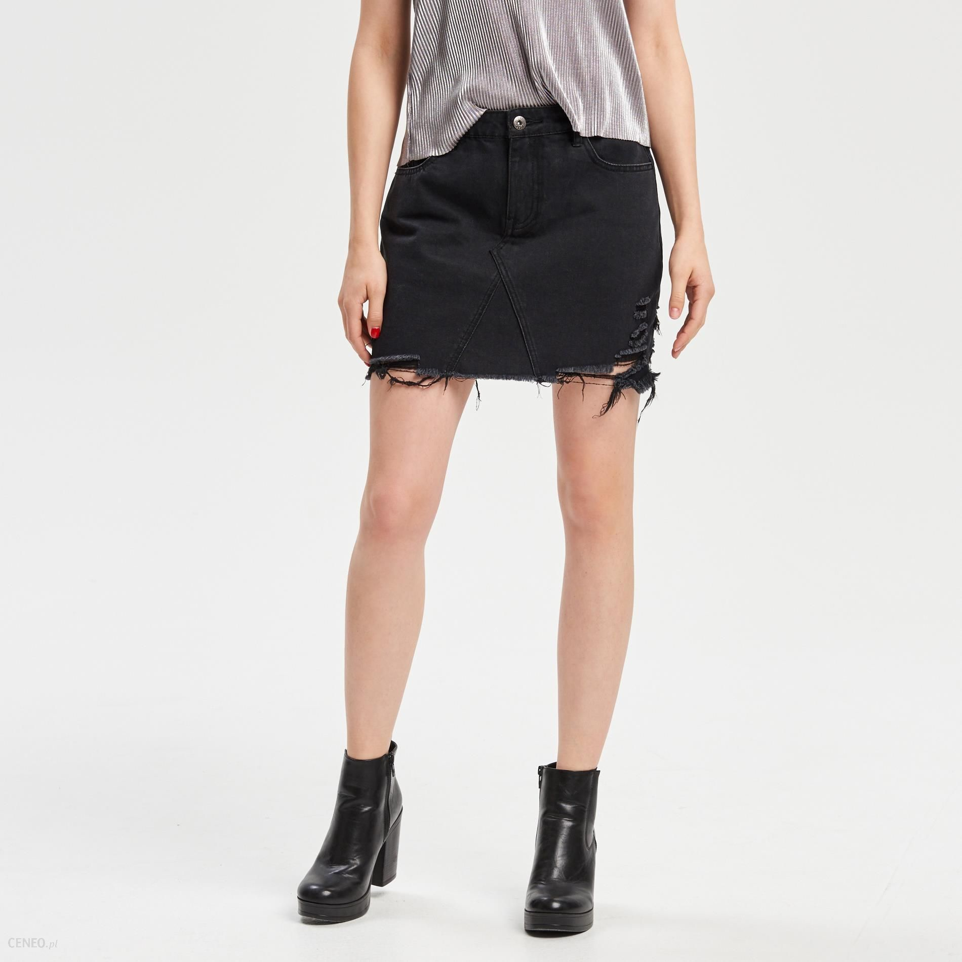 Cropp Jeansowa spódnica Czarny damska Ceny i opinie
