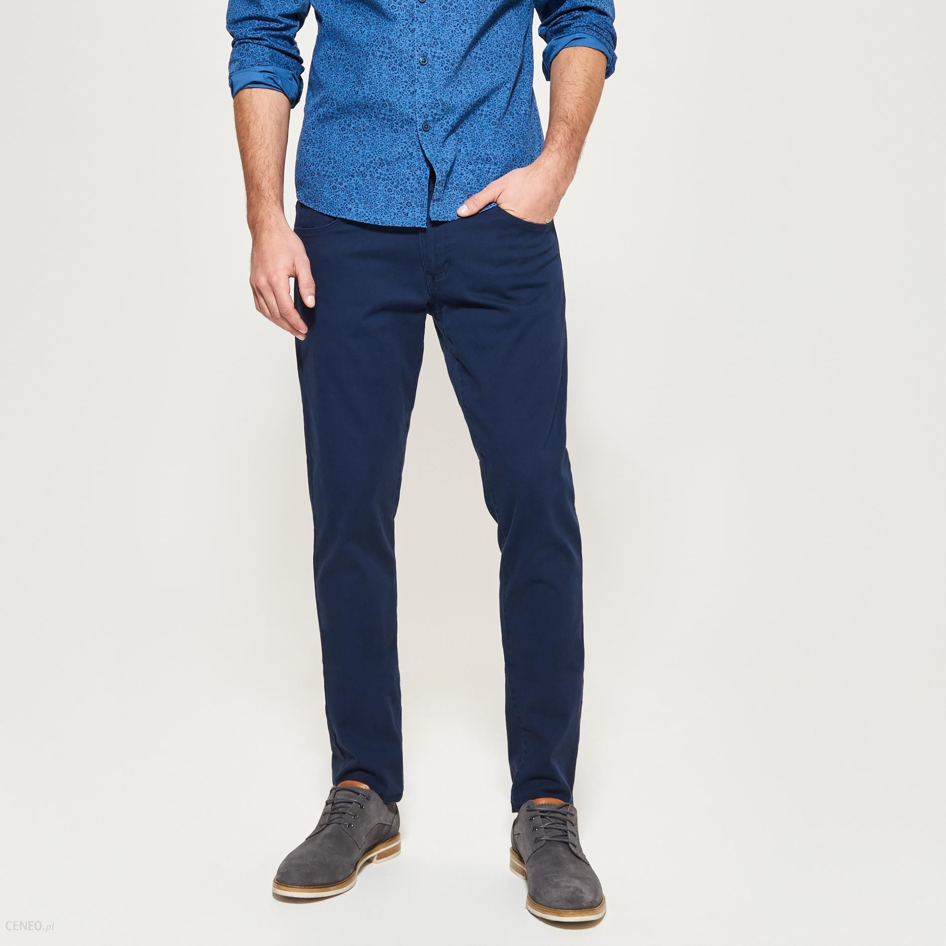 Reserved Spodnie super slim fit Granatowy męska
