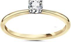Jubilerpl Pierścionek Zaręczynowy Złoto 58514k I Diament