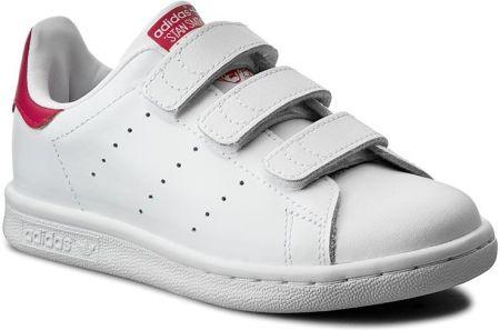 big sale 0e3bd 51d89 Półbuty adidas - Stan Smith Cf C B32706 Ftwwht Ftwwht Bopink eobuwie