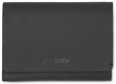 57acd1ab1bbb2 Portfel z ochroną przed kradzieżą Pacsafe RFIDsafe TEC Trifold Wallet Black  - Czarny - zdjęcie 1