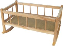 Drewniana Kołyska dla Lalek do 50 cm