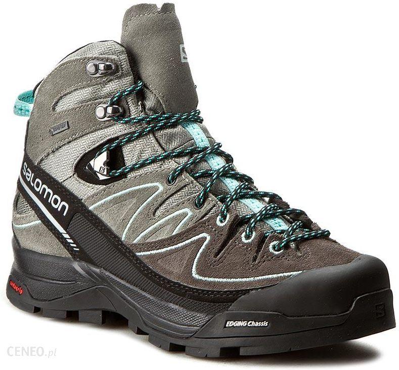Buty trekkingowe Trekkingi SALOMON X Alp Mid Ltr Gtx W 394732 21 V0 ShadowCastor GrayAruba Blue Ceny i opinie Ceneo.pl