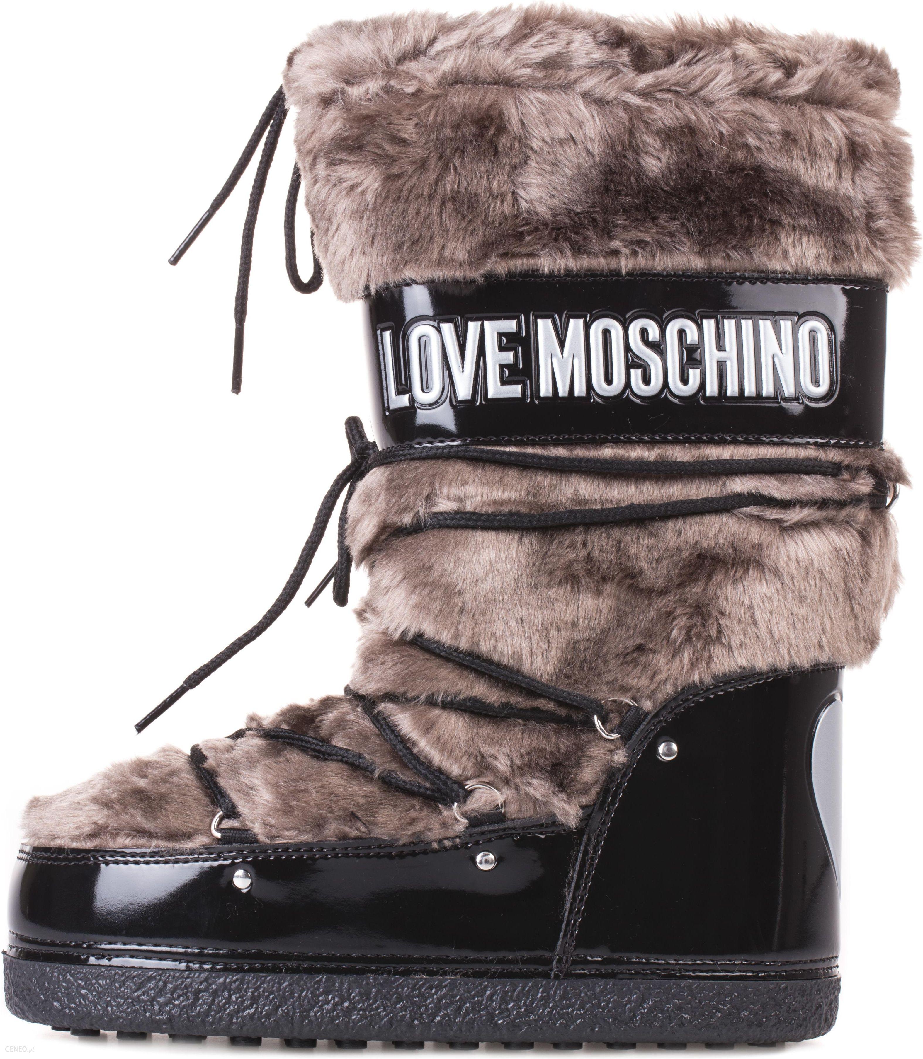 f0a466d5 Love Moschino Śniegowce Czarny Brązowy 39 - Ceny i opinie - Ceneo.pl