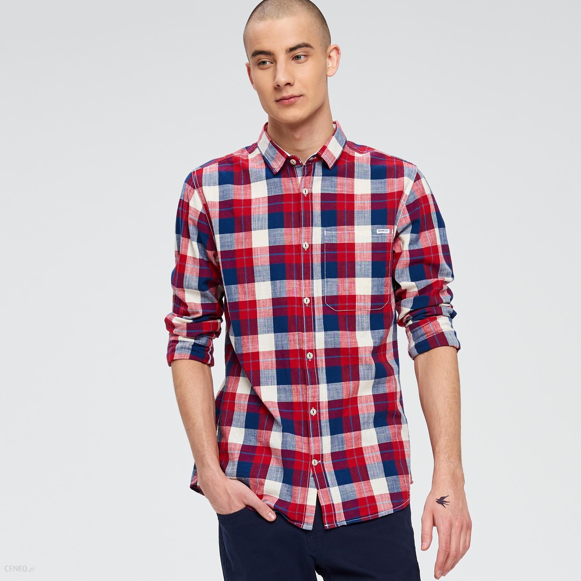 7ac6a278b5df43 Cropp - Koszula w kratę - Czerwony - męska - Ceny i opinie - Ceneo.pl