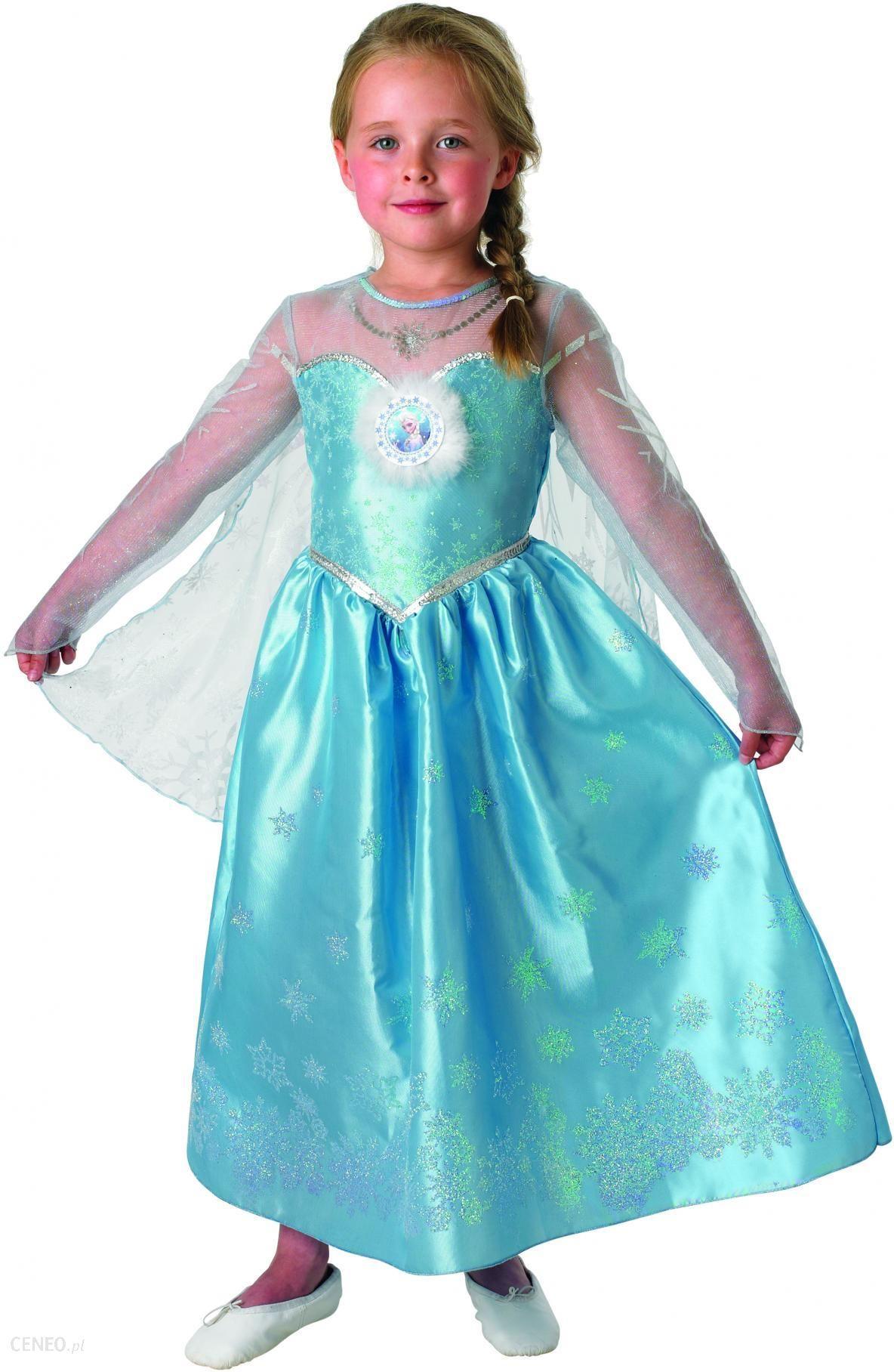 3796ef57b Rubie'S Kostium Frozen Elsa Deluxe L - Ceny i opinie - Ceneo.pl