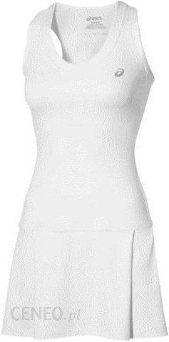 ebe935350 Asics Sukienka tenisowa Club Dress real white 1302570001 - Ceny i ...