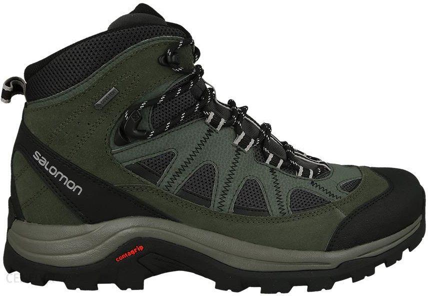 Buty trekkingowe BUTY SALOMON AUTHENTIC LEATHER GORE TEX 390409 Ceny i opinie Ceneo.pl