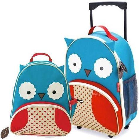 964ae3f7affdf Zestaw dla dzieci Walizka + plecak Skip Hop Zoo Sowa - Niebieski - zdjęcie 1