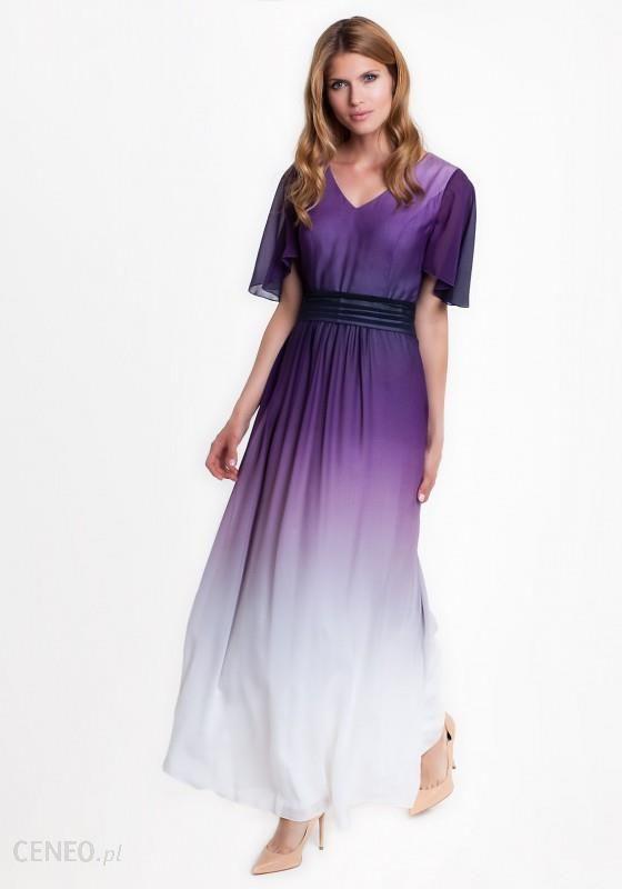 Sukienka maxi w fioletowym kolorze RAINBOW