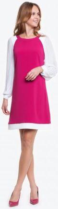 3a9573656f Caterina Elegancka Koronkowa Sukienka w Kolorze Pudrowego Różu ...
