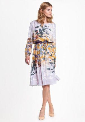 7ec085f907 Ptak Moda Rozkloszowana sukienka koktajlowa M56764 biała r. 44 ...