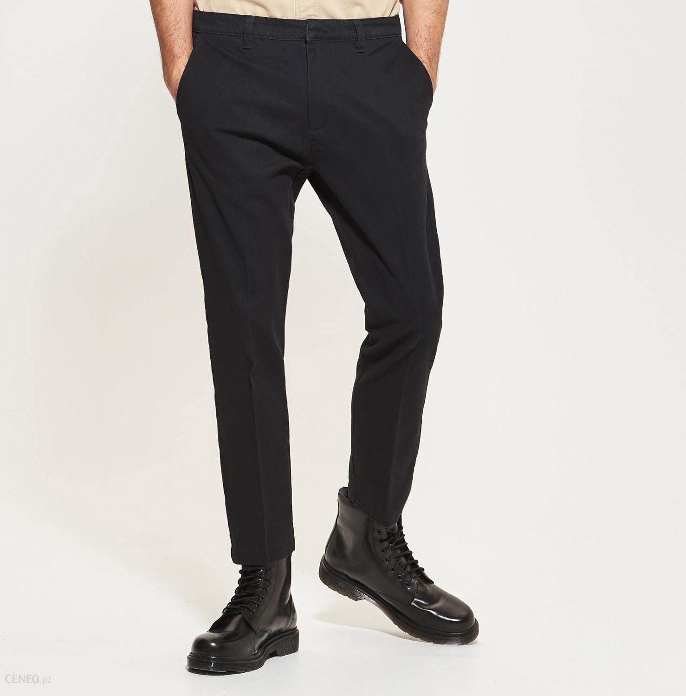Reserved Spodnie na kant Czarny męska