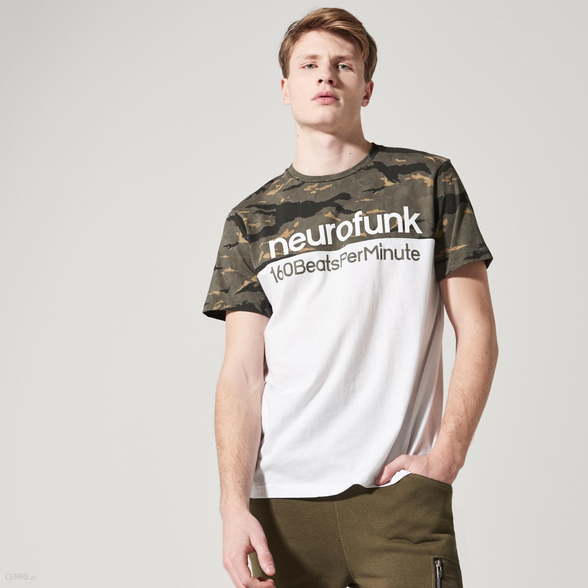 House T shirt z detalem moro Biały męska