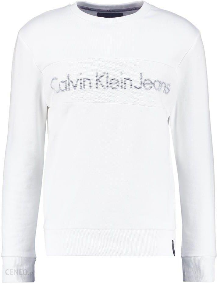 d8701a39c Calvin Klein Jeans HUSION Bluza white - Ceny i opinie - Ceneo.pl