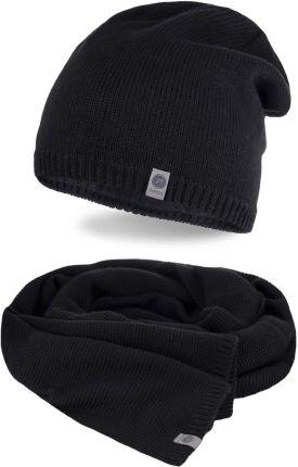5ddc0f2e75a Zimowy komplet męski - czapka i szalik - Czarny