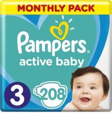 Pampers Active Baby MSB rozmiar 3 208 pieluszek