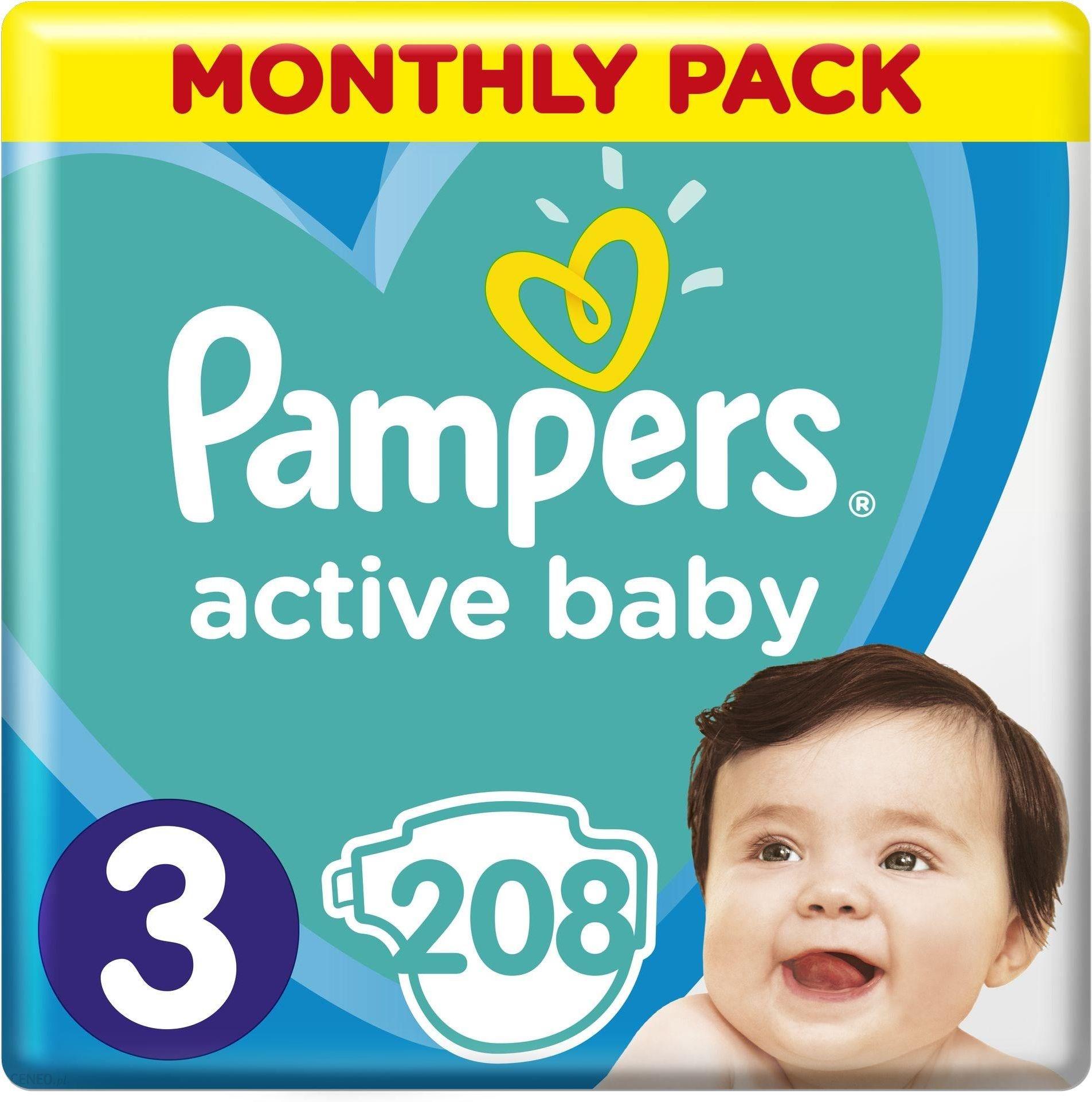 pampers active baby dry rozmiar 3 midi 208 pieluszek. Black Bedroom Furniture Sets. Home Design Ideas