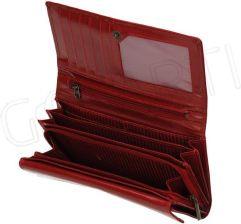 a47ae3b9d0aff Czerwony klasyczny duży portfel damski Lorenti z ozdobnym obszyciem RD-12-BAL  RED-005