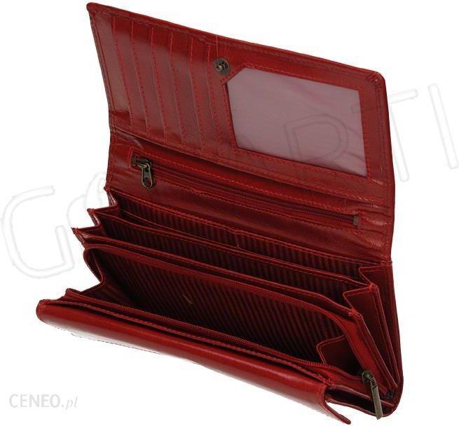 7b44c8fe17727 Czerwony klasyczny duży portfel damski Lorenti z ozdobnym obszyciem RD-12-BAL  RED-