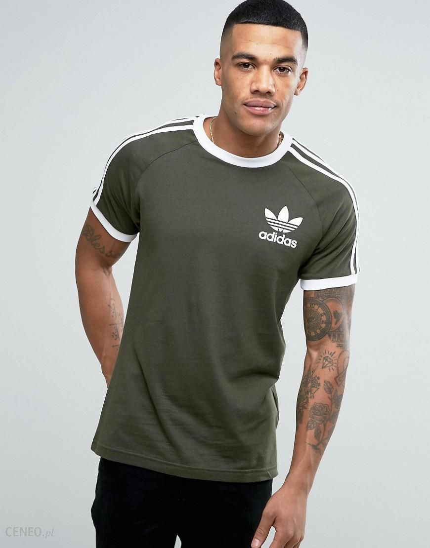 adidas Originals California T Shirt In Green BQ5369 Green