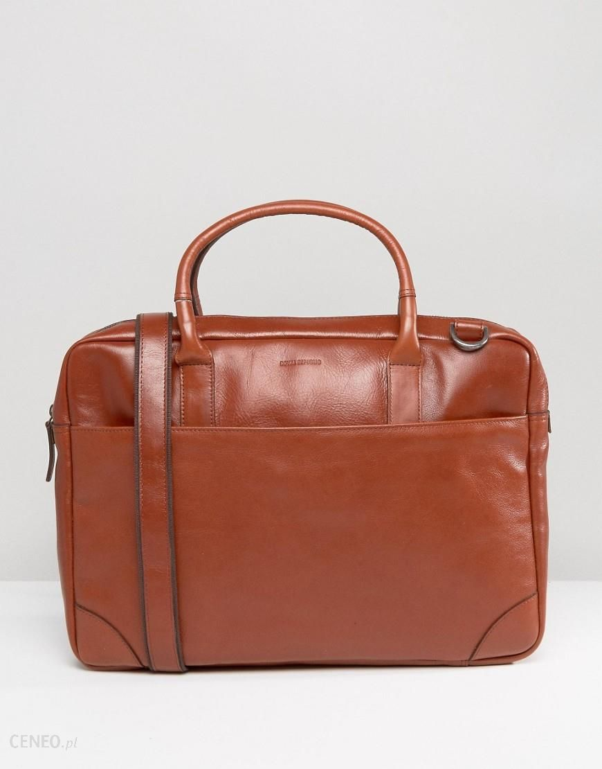 35adc0971c Royal RepubliQ Explorer Leather Laptop Bag With Single Compartment - Tan -  zdjęcie 1