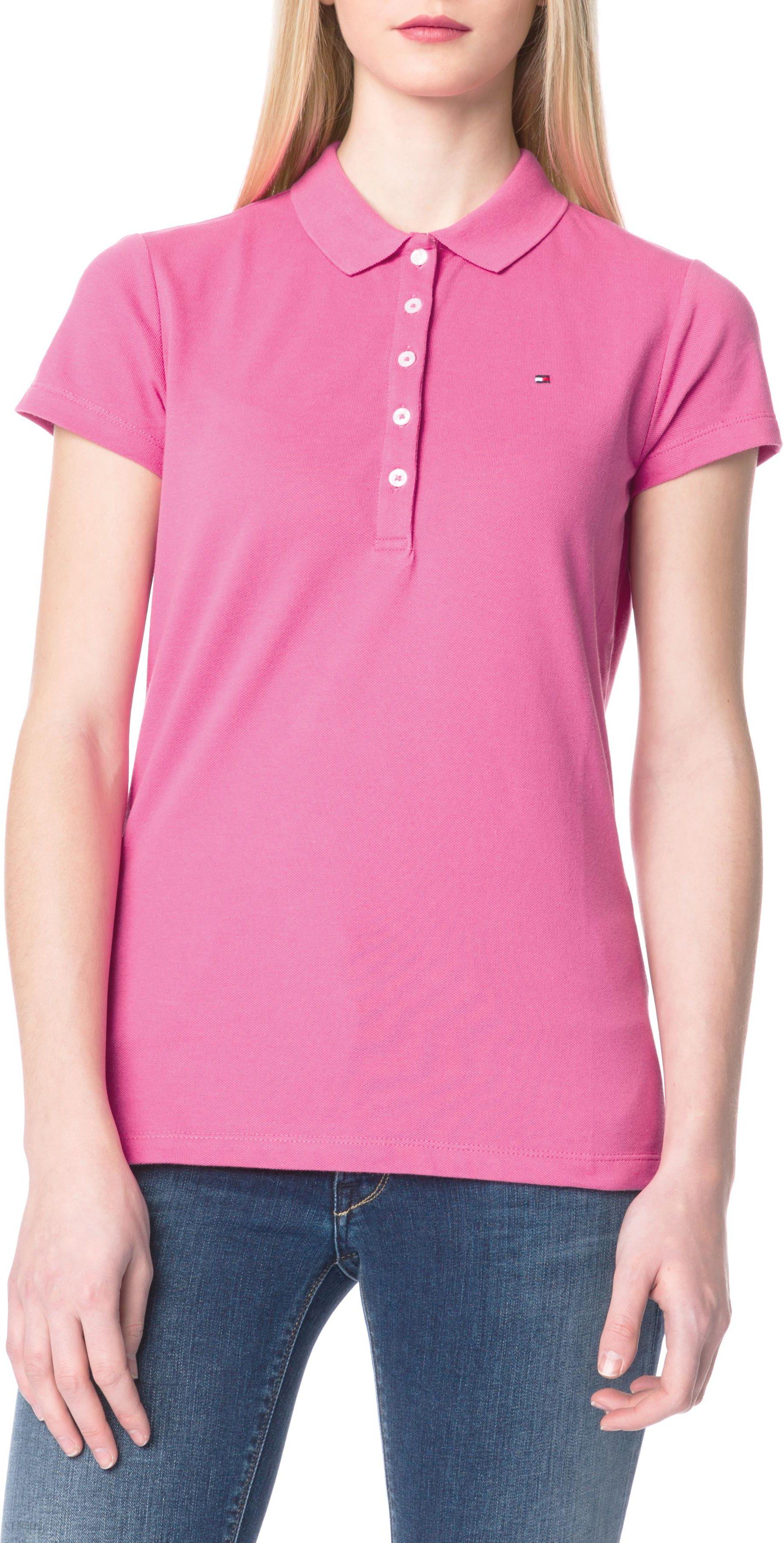 335a39221f8cc Tommy Hilfiger Koszulka polo Różowy S - Ceny i opinie - Ceneo.pl