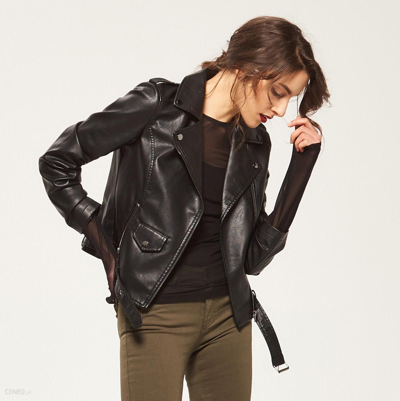 be108c8430e9a Reserved - Rockowa kurtka z nadrukiem - Czarny - damska - Ceny i ...