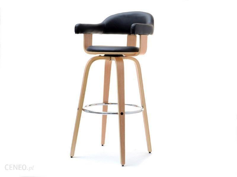 Hoker krzesło barowe kuchenne z drewna obrotowe 37 Galeria