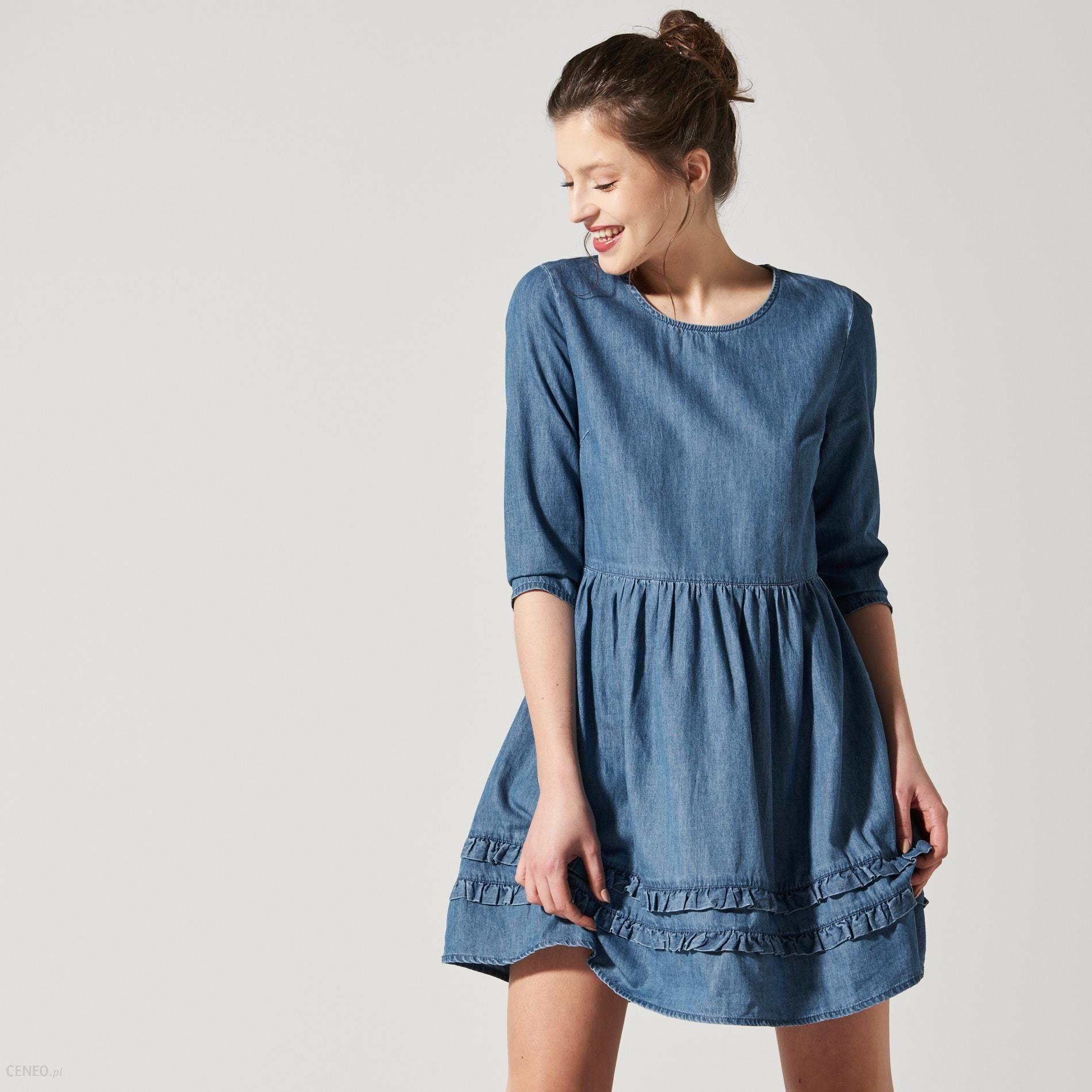 15bf66ea38 House - Jeansowa sukienka - Niebieski - damski - Ceny i opinie ...