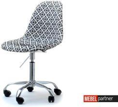 Obrotowe Krzesło Tapicerowane Tkaniną Mpc Move Tap Szare