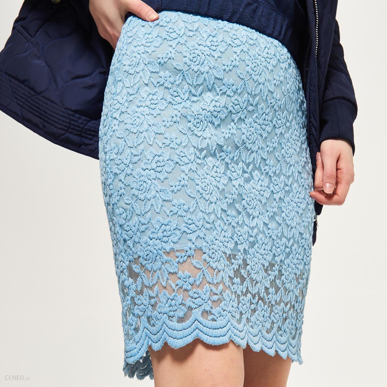 baafff95 Reserved - Koronkowa spódnica - Niebieski - damski
