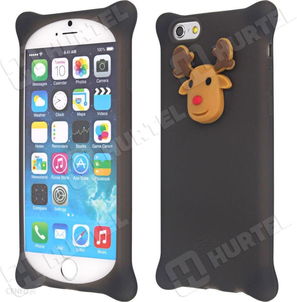 Dodatkowe Hurtel Gumowe etui 3D case renifer iPhone 6S 6 Brązowy - Etui na VJ86