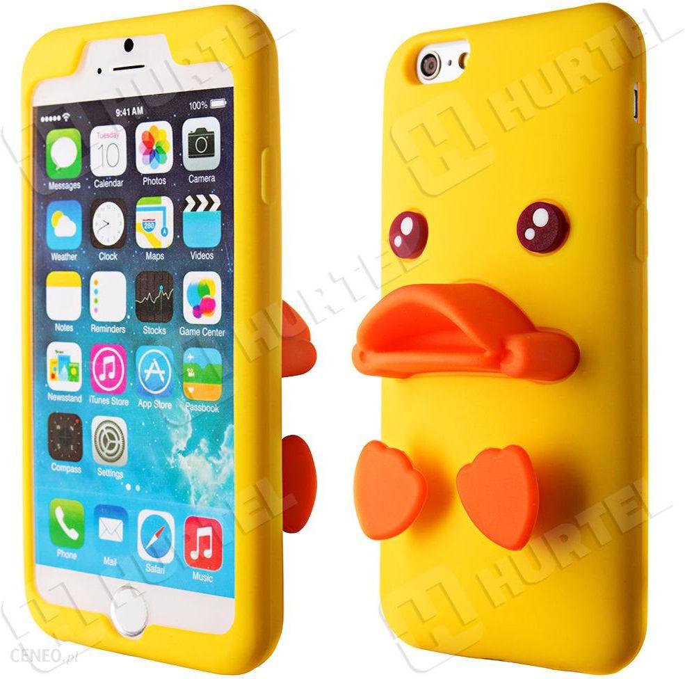 W Mega Hurtel Gumowe etui 3D case kaczka iPhone 6S 6 Plus żółty - Etui na NQ12