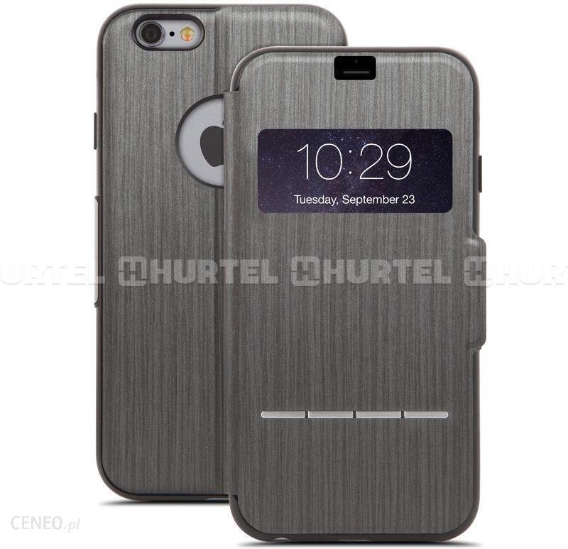 moshi SenseCover Etui z klapką dotykową 6s iPhone 6 Plus Czarny
