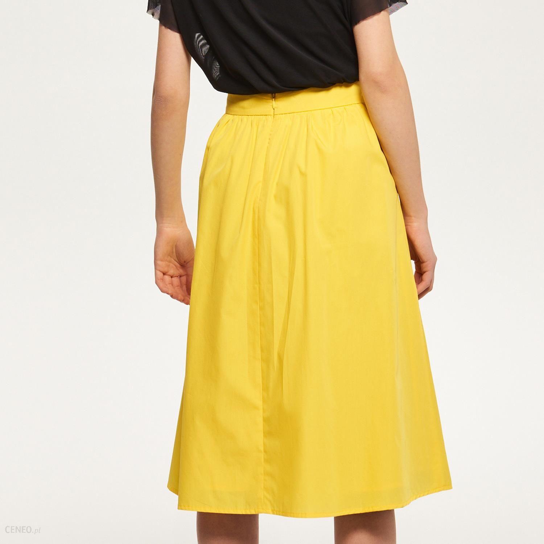5770ab27 Reserved - Rozkloszowana spódnica - Żółty - damski